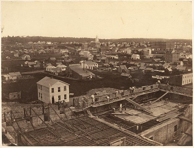 This was the view from the roof of the courthouse in St. Paul in 1857, two years before Ann Bilansky was accused of murdering her husband. Photo courtesy of the Minnesota Historical Society