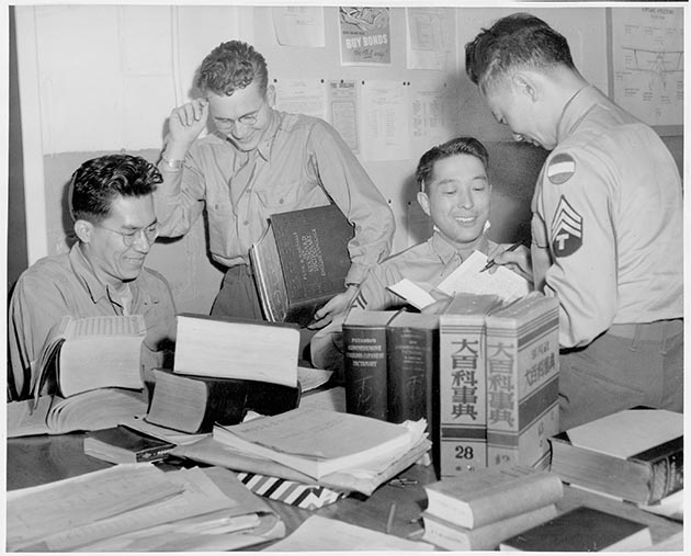 During World War II, Fort Snelling in St. Paul became home to the Military Intelligence Service Language School, created to train translators in Japanese language and culture. Photo courtesy of the Minnesota Historical Society