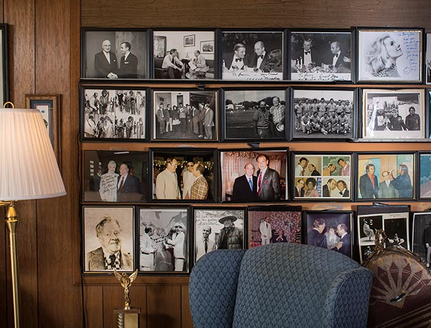 At his home in Golden Valley, Barry ZeVan has created a gallery of photos from his career in television.