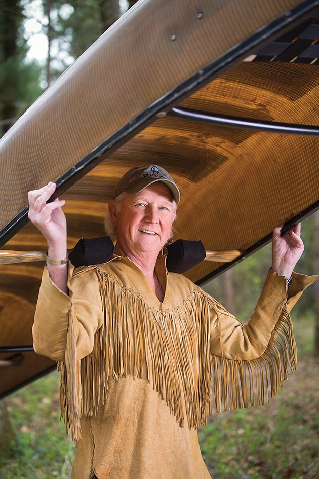 Don Shelby wears a handmade buckskin, inspired by American Indian and Mountain Man patterns and crafted by James Peterson, a noted academic and buckskinner and primitive tool maker. Photos by Tracy Walsh