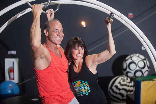Dan and Betty Butler founded their circus training and performance company in 1994 and today serve more than 2,000 students a year in their 20,000-square-foot facility in St. Paul. Photo by Robb Long