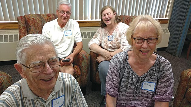 Former caregivers meet at a Roseville church for a support group organized by the new Dementia Caregiver Re-Entry Initiative.