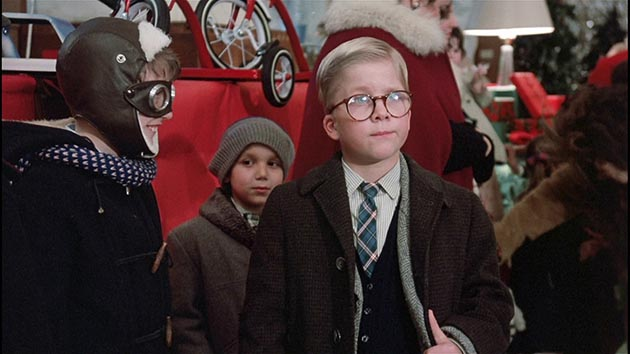 MGM released A Christmas Story in November 1983, starring Peter Billingsley as Ralphie Parker (and featuring Jean Parker Shepherd as adult voice of Ralphie).