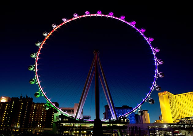The Linq Hotel & Casino on the Las Vegas Strip near Caesar's Palace is home to the High Roller, the world's largest observation wheel, towering 550 feet. Photos by Denise Truscello