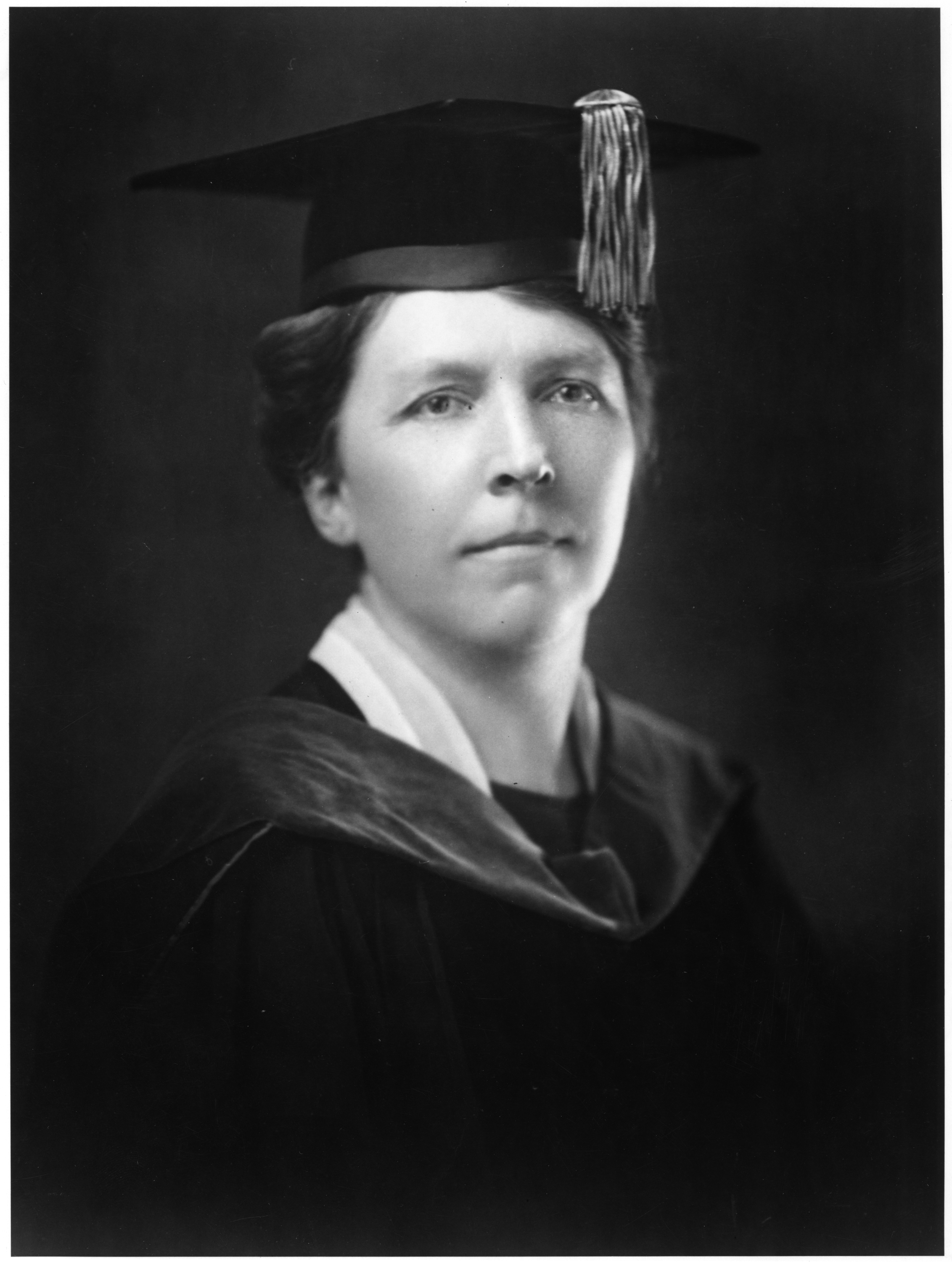 Ada Comstock in academic robes, 1920