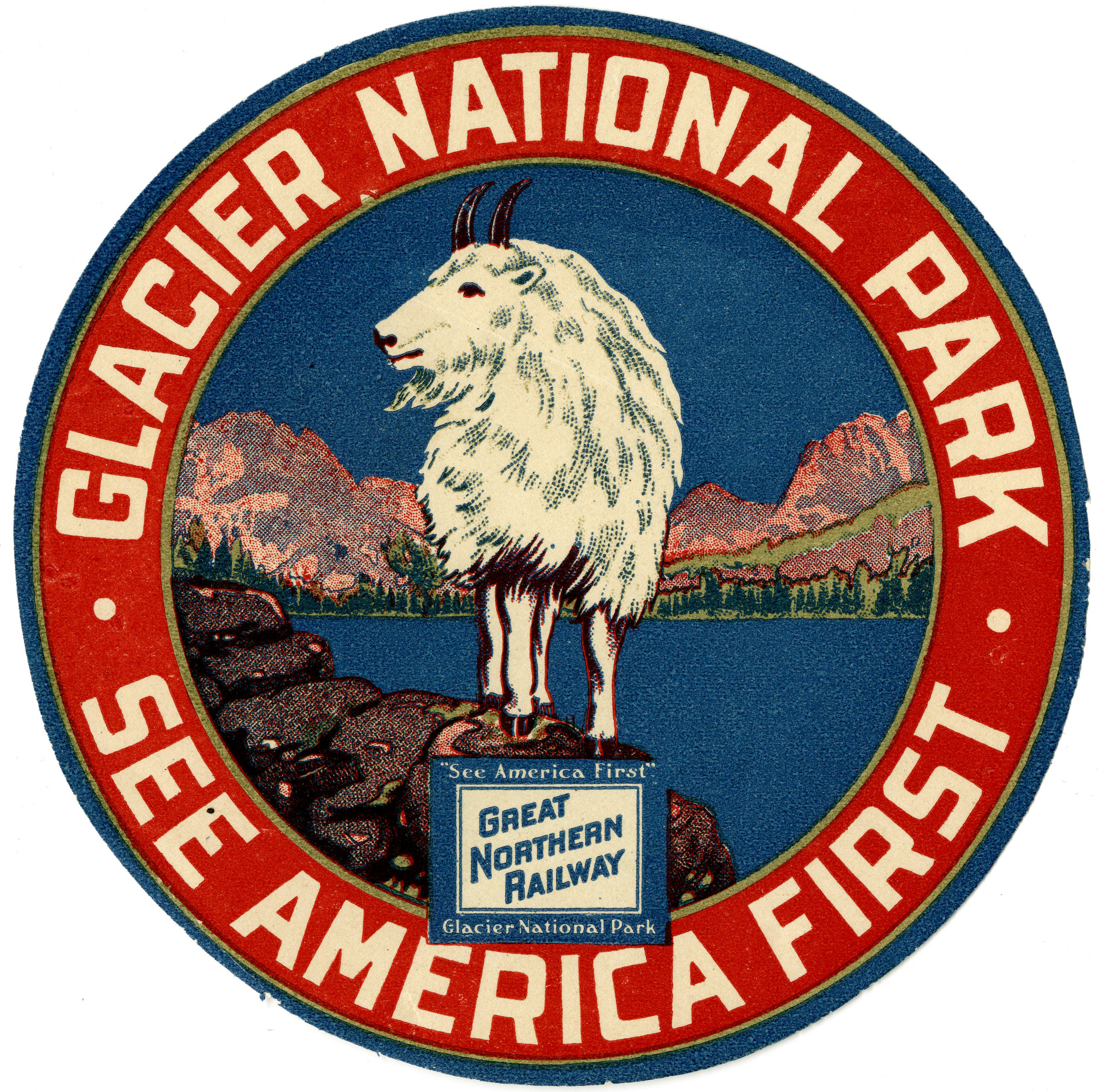 See America First seal from Great Northern railcars
