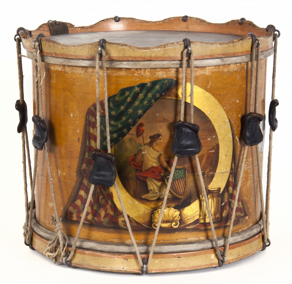 This snare drum was used during the Civil War by the First Minnesota Volunteer Infantry Regiment.