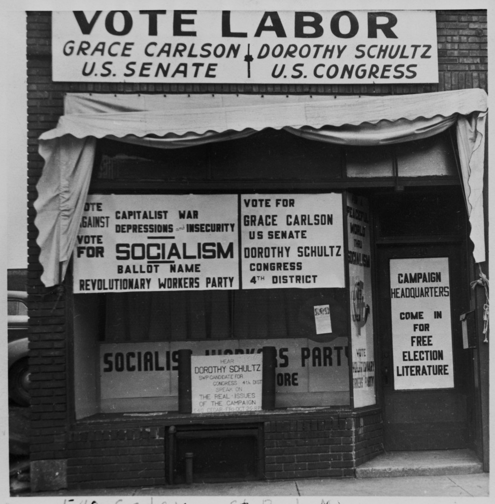 Socialist Workers Party Campaign headquarters