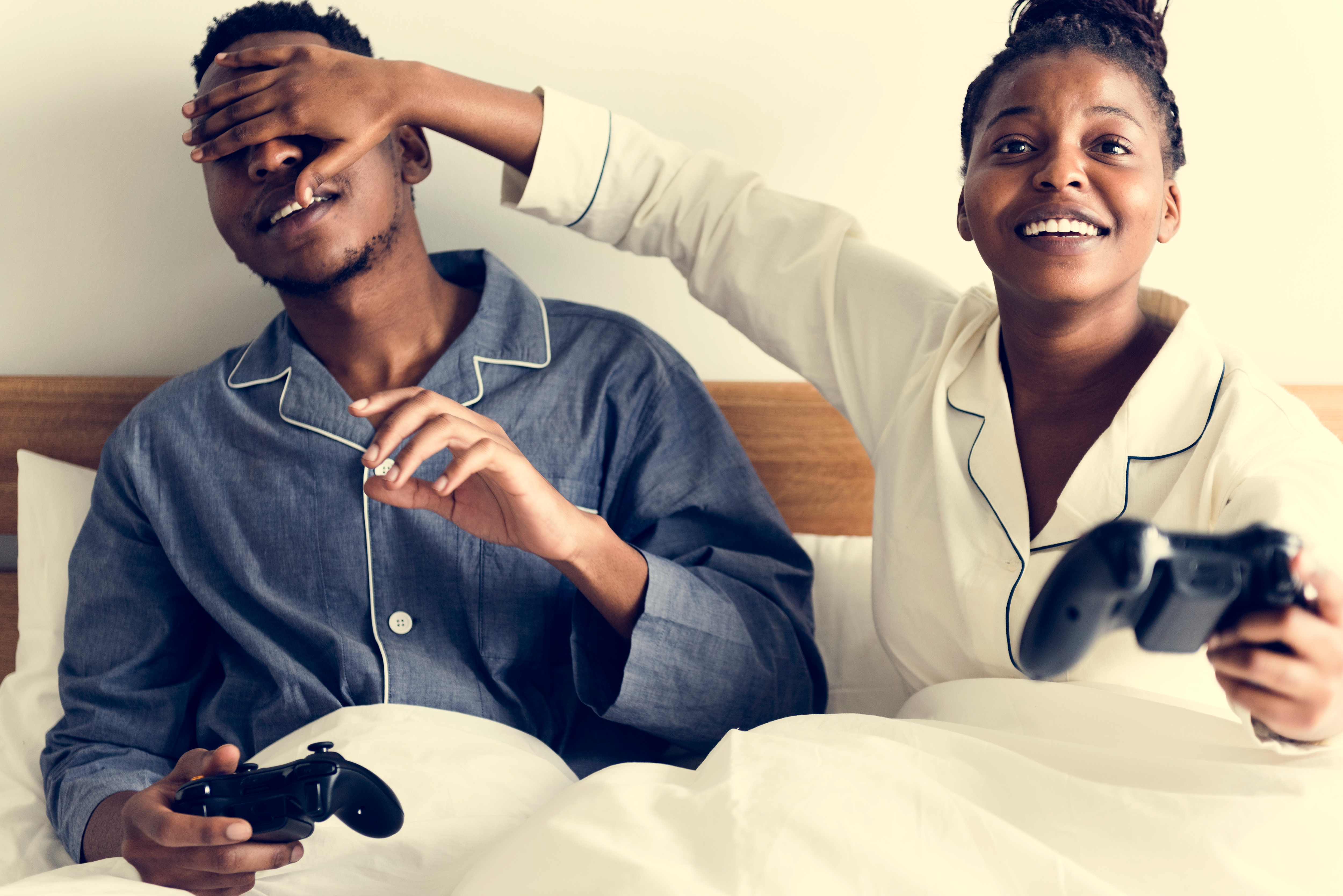 Couple playing video games