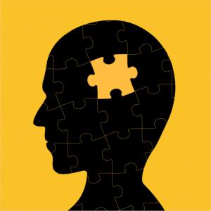 Puzzle piece in head