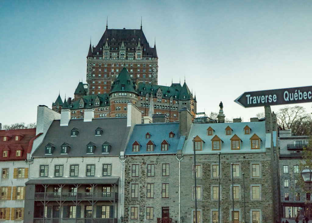 Chateau Frontenac above Quebec City